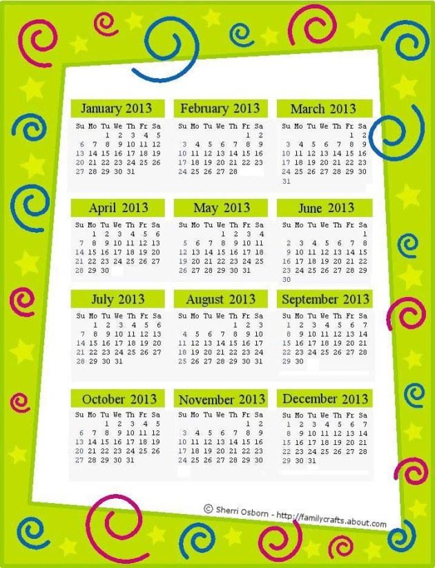 2013-Calendar-Page