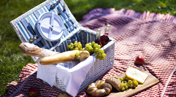 Sahilde piknik