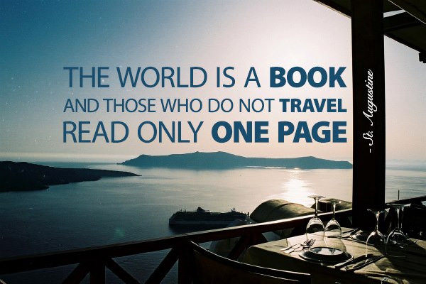 The world is a book- Travel to read more