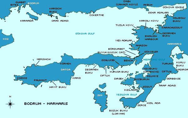 hisarönü Körfezi harita