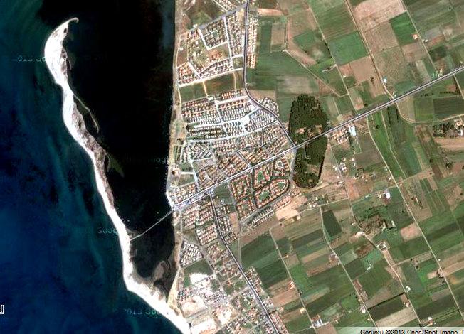 Altınova Sahil Siteleri Google maps görüntüsü