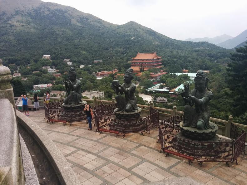 Six delvas and Po Lin Monastery